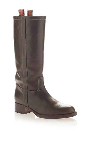 Medium etro brown classic leather boot
