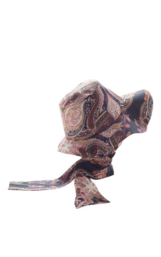 Medium etro navy hat with attached scarf