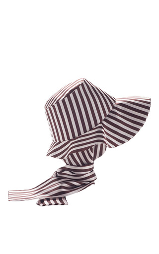Medium etro navy hat with attached scarf 2