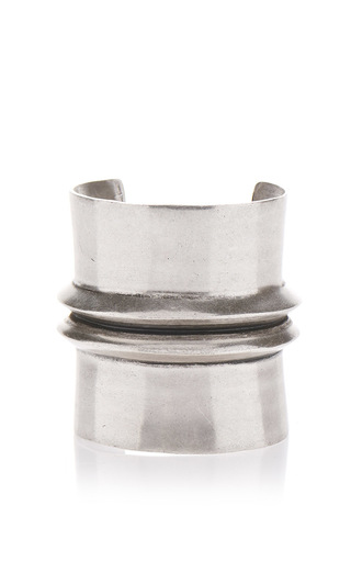 Medium etro silver metal bangle with central raise