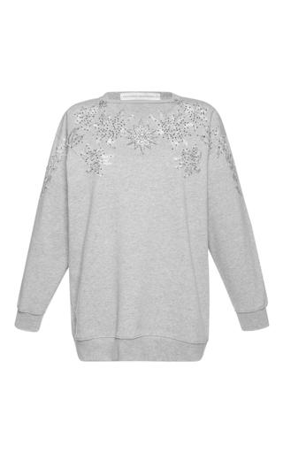 Medium francesco scognamiglio light grey oversized crew neck sweater