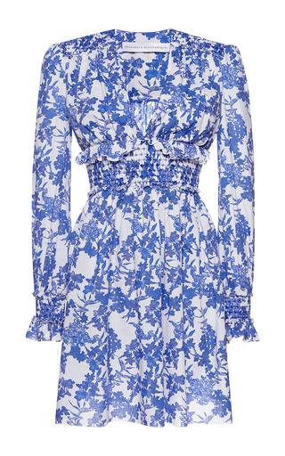 Medium francesco scognamiglio print ruched waist floral mini dress