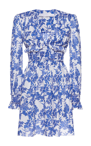 Medium francesco scognamiglio print ruched waist floral mini dress