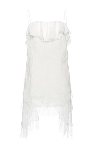 Medium francesco scognamiglio white flounced neck asymmetrical dress