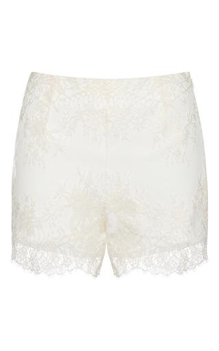 Medium francesco scognamiglio white lace shorts