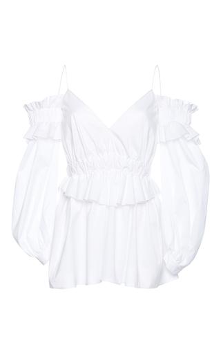 Medium francesco scognamiglio white off the shoulder blouse