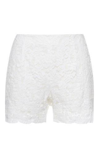 Medium francesco scognamiglio white lace shorts 2