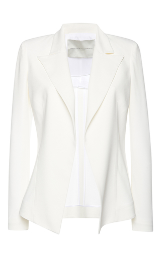 Medium francesco scognamiglio white notched lapel blazer