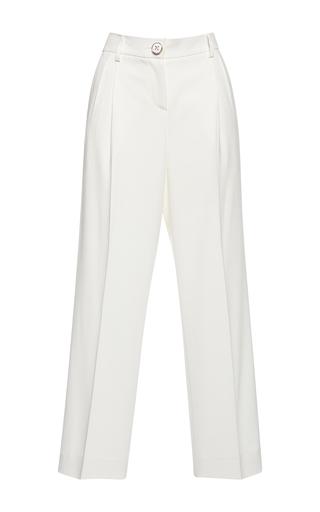 Medium francesco scognamiglio white high waist wide legged pant