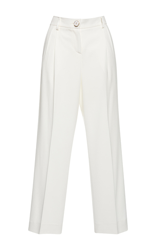 Medium francesco scognamiglio white high waist wide legged pant