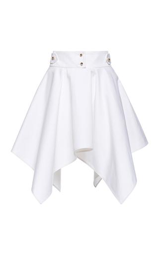 Medium francesco scognamiglio white handkerchief mini skirt
