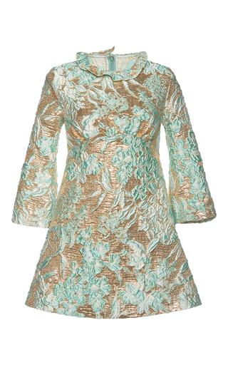 Medium francesco scognamiglio multi lame jacquard a line dress