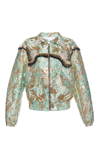 Medium francesco scognamiglio multi lame jacquard bomber jacket