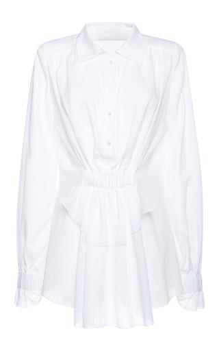 Medium francesco scognamiglio white flounced cuff top
