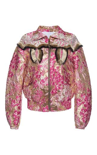 Medium francesco scognamiglio multi lame jacquard bomber jacket 2