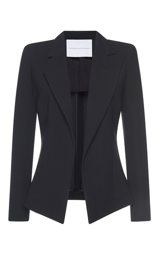 Medium francesco scognamiglio black notched lapel blazer 2