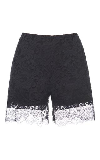 Medium francesco scognamiglio black lace shorts 4