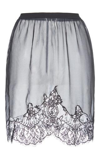 Medium francesco scognamiglio black contrast lace mini skirt