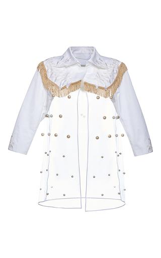 Medium francesco scognamiglio white pearl illusion coat