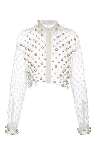 Medium francesco scognamiglio white pearl cropped top