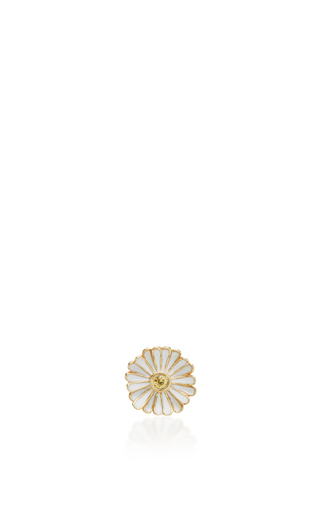 Medium alison lou white daisy stud