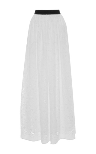 Medium blugirl white eyelet pleated maxi skirt