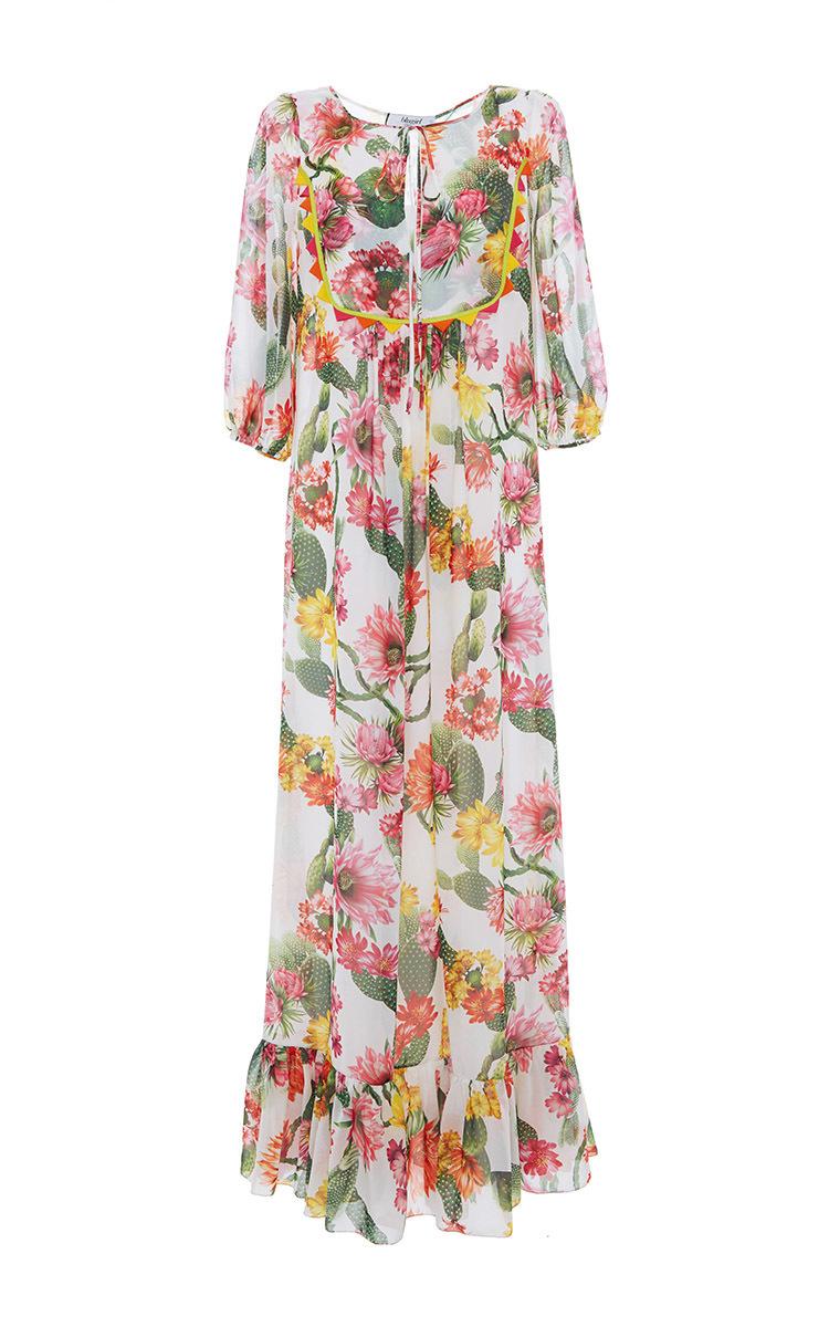 04db6d84f2 Cactus Floral Printed Maxi Dress by Blugirl   Moda Operandi