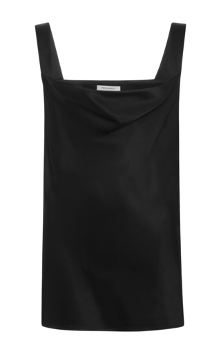 Medium protagonist black textured charme cami
