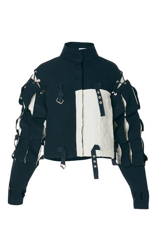 Medium j w anderson multi contrast slash sleeve jacket