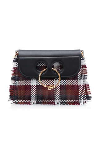 Medium j w anderson plaid multi woven medium pierce bag