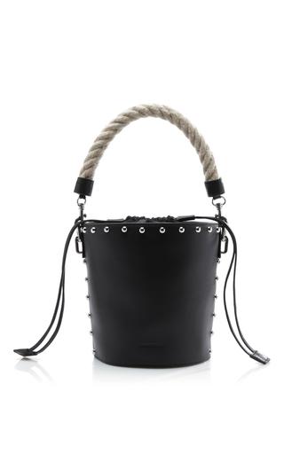 Medium j w anderson black studded bucket bag