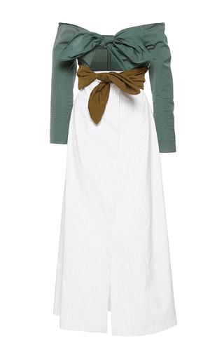 Medium isa arfen multi double knot long sleeve dress
