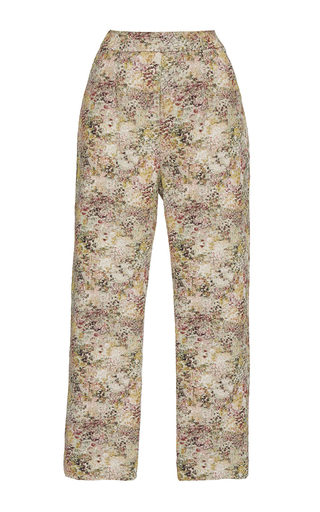 Medium isa arfen multi classic abstract field cropped pants