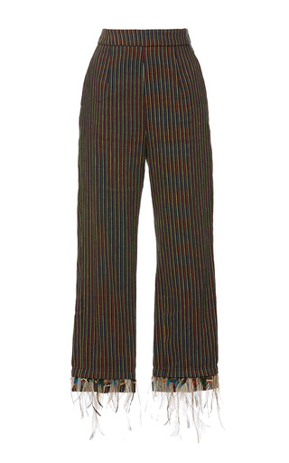 Medium isa arfen brown classic feather pants