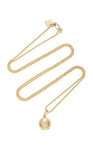 Medium magdalena frackowiak gold ball pendant