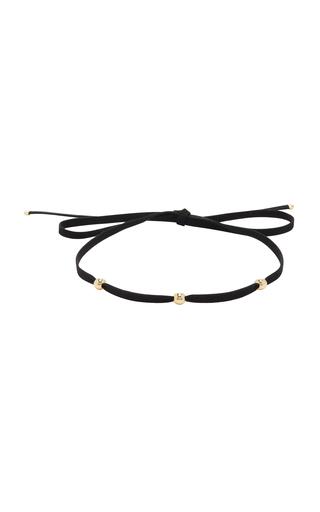 Medium magdalena frackowiak gold ball silk choker iii