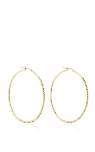 Medium magdalena frackowiak gold large ball hoop earrings