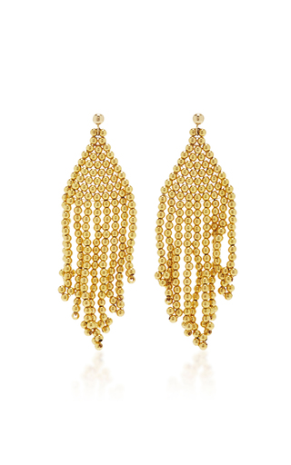 Medium magdalena frackowiak gold gypsy beaded earrings