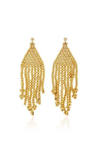 Medium magdalena frackowiak gold gypsy beaded earrings