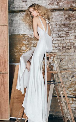 Medium delphine manivet white m o exclusive abel gown