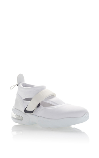 Medium msgm white neoprene sneaker 4
