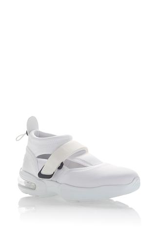 Medium msgm white neoprene sneaker 4