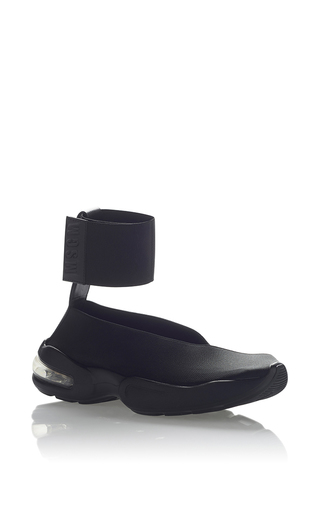 Medium msgm black neoprene sneaker 6