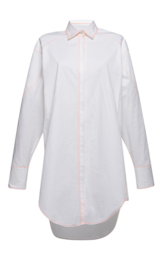 Medium msgm white classic cotton shirt