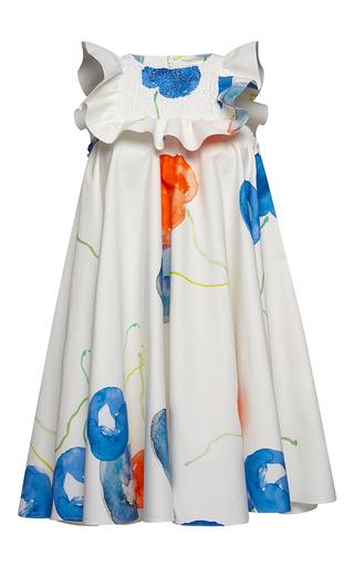 Medium msgm print printed ruffle smock dress