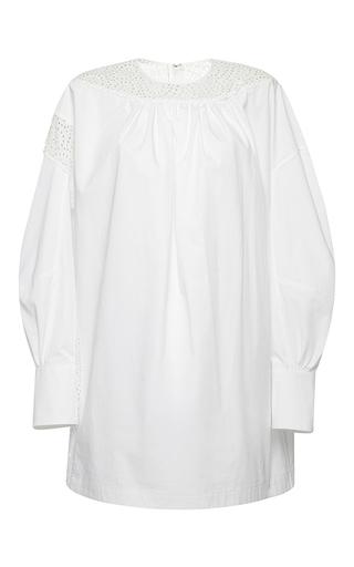 Medium msgm white mini eyelet detail dress