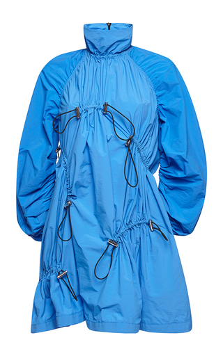 Medium msgm blue high neck utility dress
