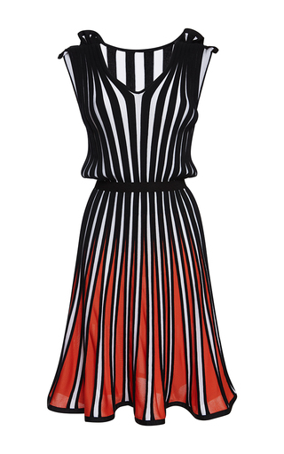 Medium msgm stripe stripe knit sleeveless dress