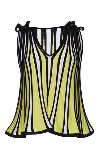 Medium msgm stripe stripe flounce top