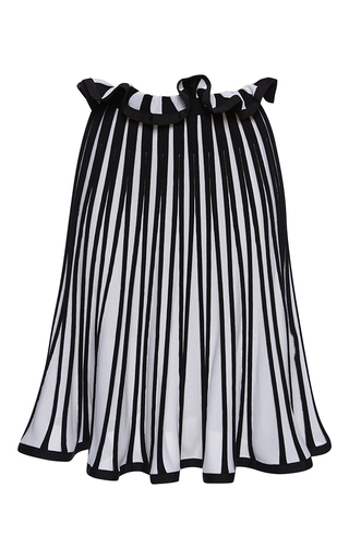 Medium msgm white striped knit skirt